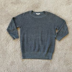 Madewell 3/4 sleeve grey knit top, size M